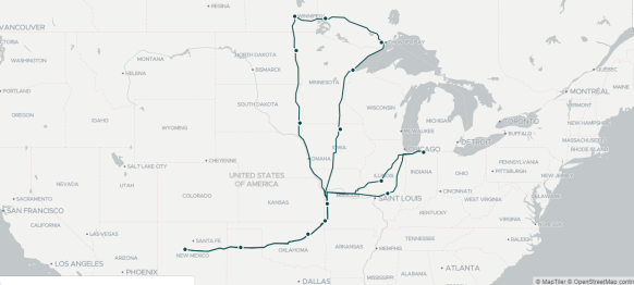 2018 Travel Map